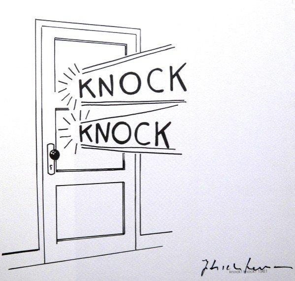 Roy LICHTENSTEIN, signed Print, Knock Knock, 1975