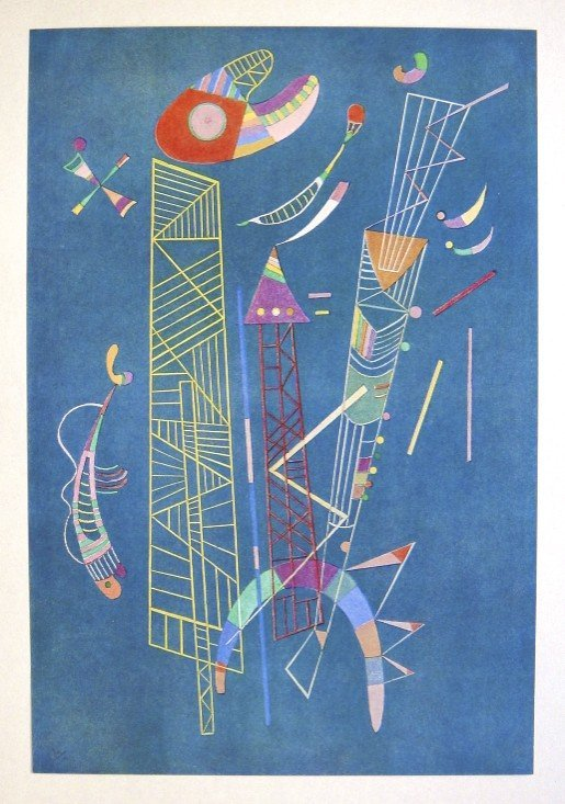 Wassily KANDINSKY, special Print Construction Legere