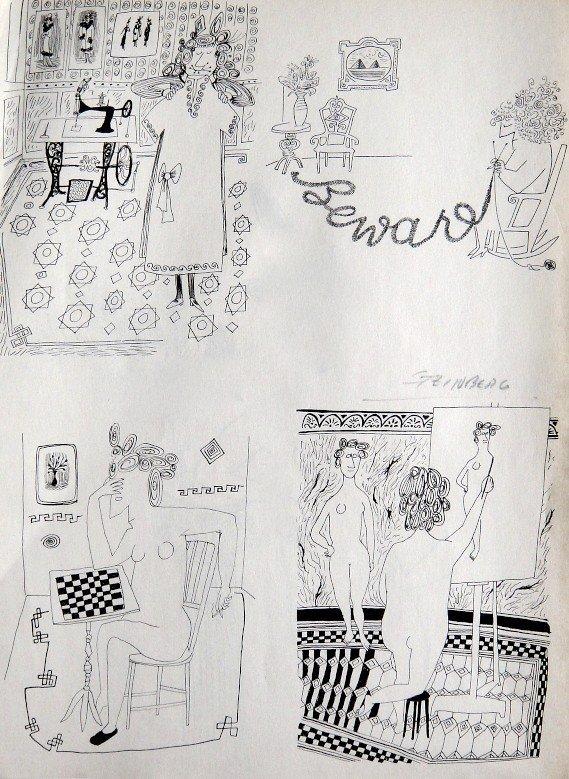 "Saul STEINBERG ""The Art of Living"" Print"