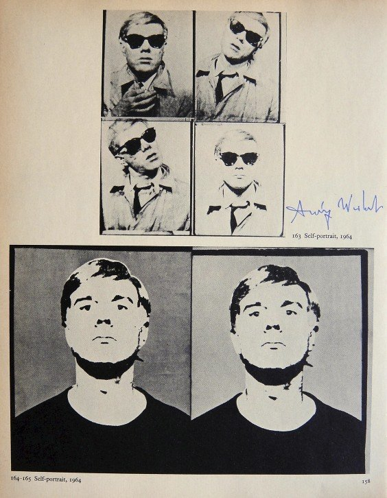"ANDY WARHOL, Signed Print ""Self-Portrait"", 1966"