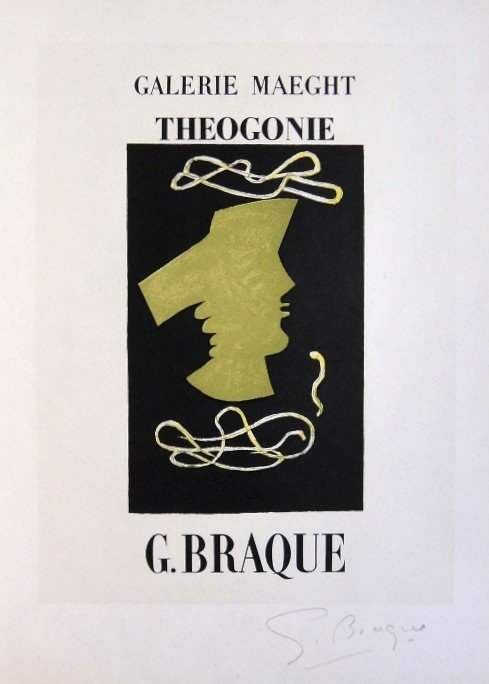 Georges Braque Lithograph Ecole de Paris 1952