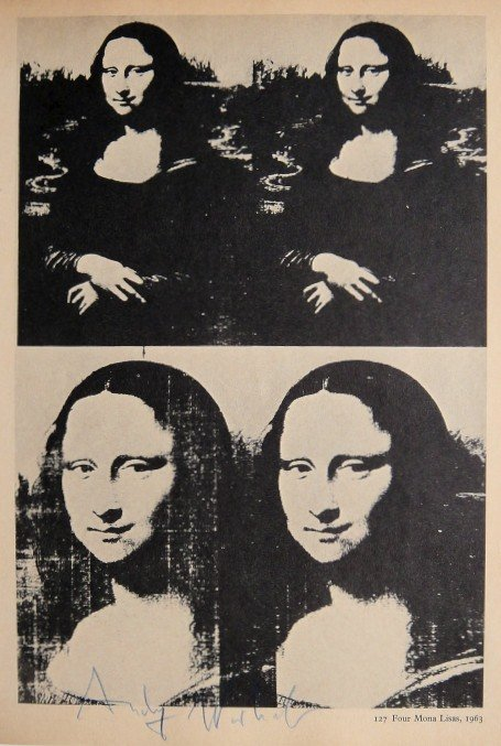 "ANDY WARHOL, Signed Print ""Four Mona Lisa"", 1966"