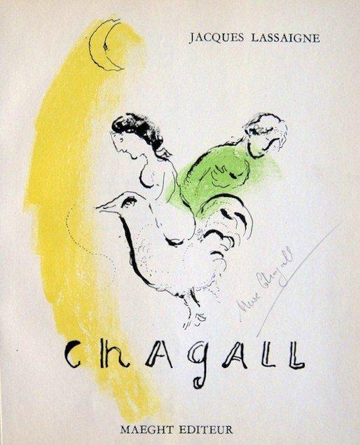 """Marc CHAGALL, """" Le Coq au Croissant Ó Litho"""