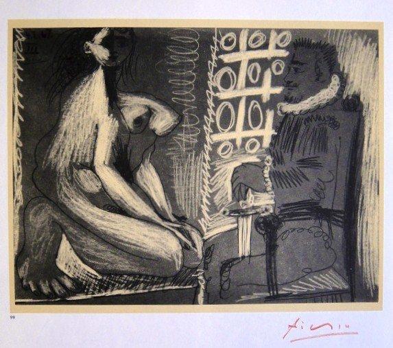 """Pablo Picasso signed Print """" Dessins """", 1969"""
