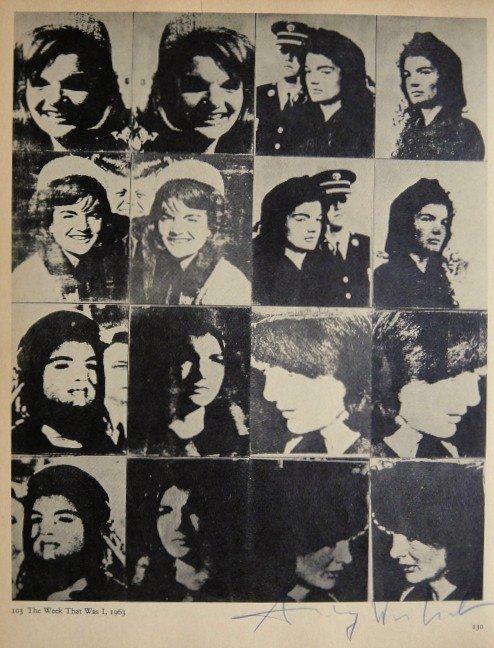 "ANDY WARHOL, Signed Print ""Jackie Kennedy"", 1966"