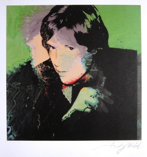 Andy Warhol, signed Print, Portraits, 1986