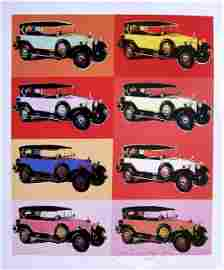 Andy Warhol, signed Print, Cars, 1986