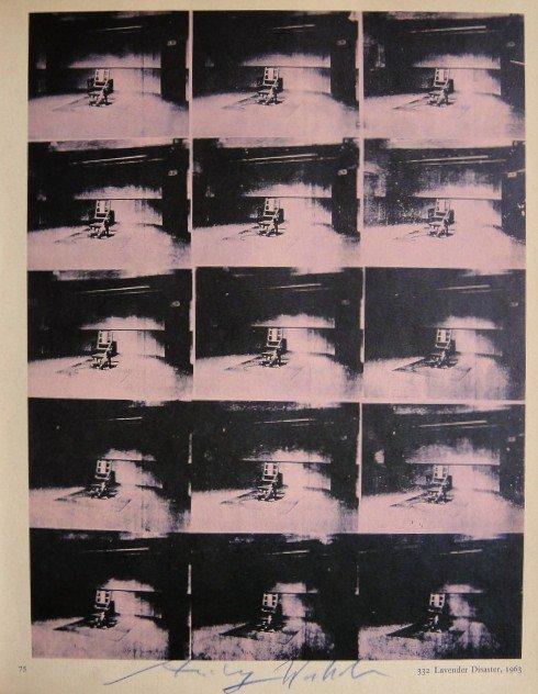 "ANDY WARHOL, Signed Print ""Lavender Disaster"", 1966"