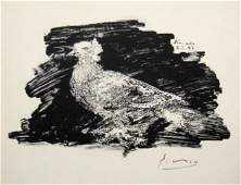 """PABLO PICASSO, signed Litho """"Taube"""" 1953"""