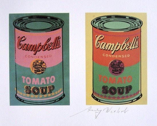 Andy Warhol, signed Print, Campbell's Soup Can, 1986
