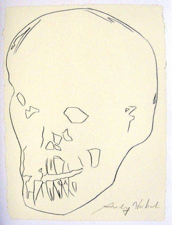 Andy Warhol, signed Print, Philip Niarchos' Skull, 1986
