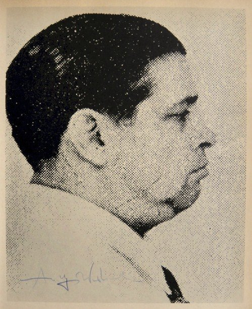 "Andy Warhol, signed Print, ""Most Wanted Man No. 7,"