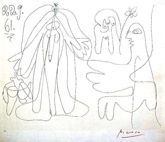 Pablo PICASSO, Les Dejeuners Litho, 1962