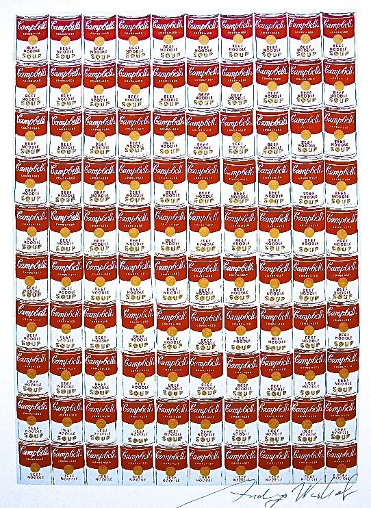 Andy Warhol, signed Print, 100 Cans, 1986