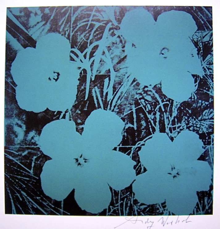 Andy Warhol, signed Print, Ten-Foot Flowers, 1986