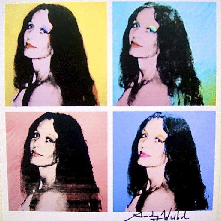 """Andy Warhol, signed Print, """"Brooke Hayward"""", 1986"""