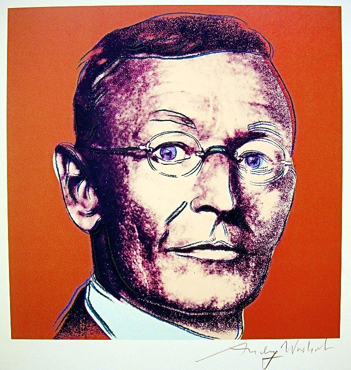 "Andy Warhol, signed Print, ""Hermann Hesse"", 1986"