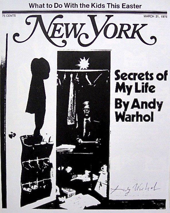 "ANDY WARHOL, Signed Print ""Secrets of my Life"", 1966"