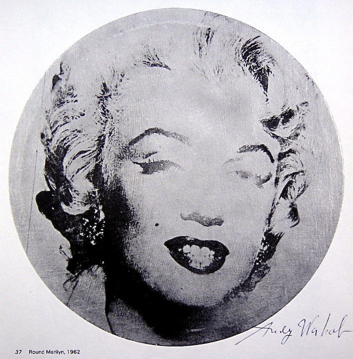 Andy Warhol, signed Print, Round Marilyn, 1986