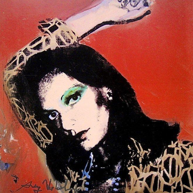 """Andy Warhol, signed Print, """"Diane von Furstenberg"""","""