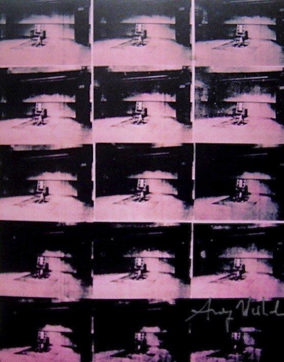 Andy Warhol, signed Print, Lavender Disaster, 1986