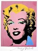 Andy Warhol, signed Print, Lavender Marilyn, 1986