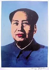 "Andy Warhol, signed Print, ""Mao Zedong"" , 1986"
