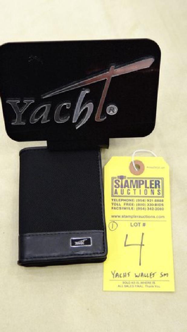 YACHT CARD CASE - GENUINE CALFSKIN LEATHER / NYLON -