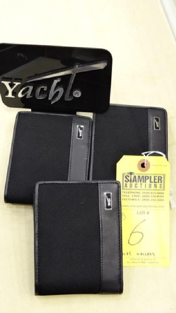 3 YACHT WALLETS WITH REMOVABLE HORIZONTAL CARD HOLDER -