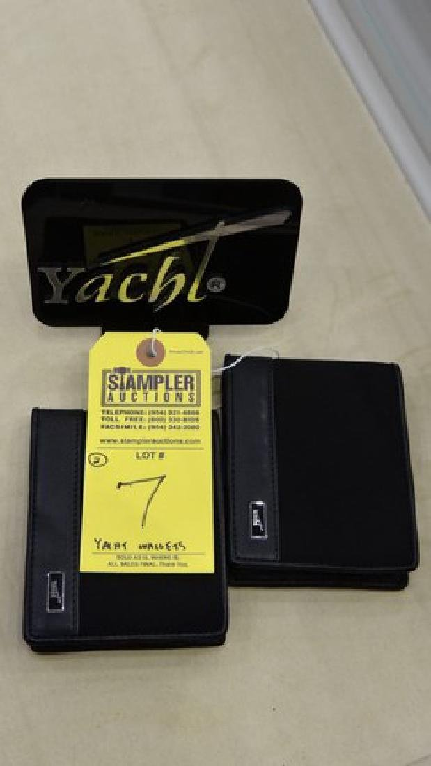 2 YACHT WALLETS WITH REMOVABLE VERTICAL CARD HOLDER -