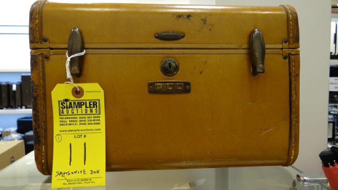 VINTAGE SAMSONITE BOX - SHWAYDER BRO'S INC - DENVER