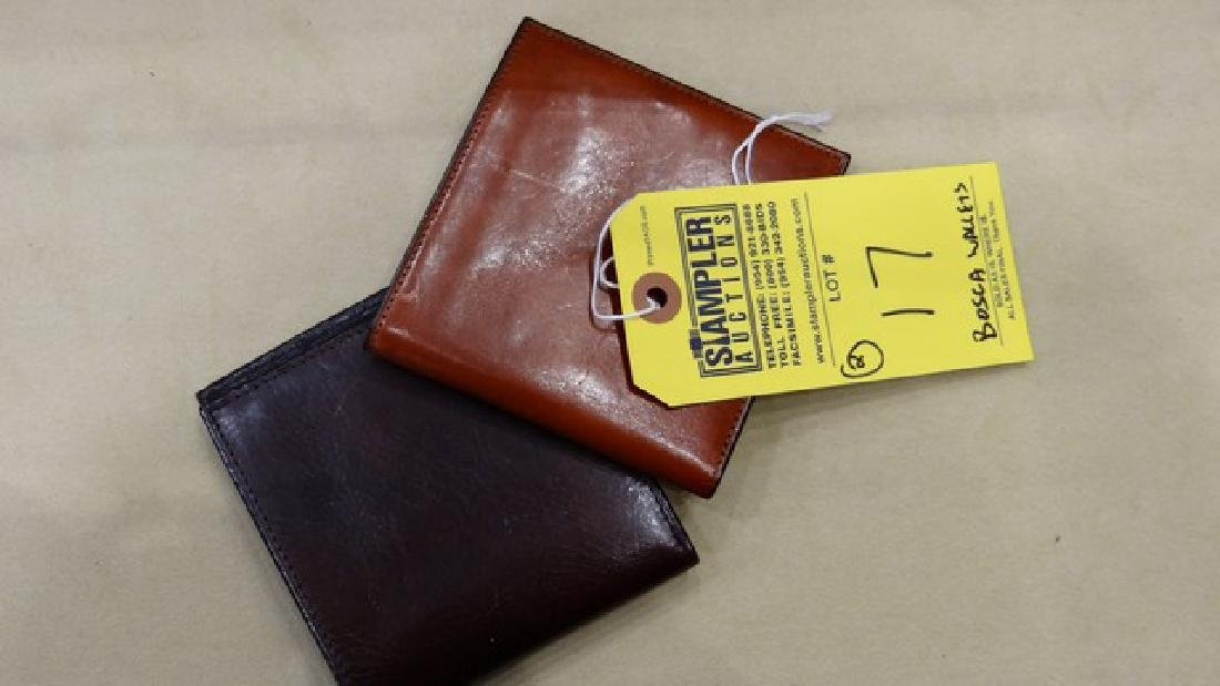 2 BOSCA ID HIPSTER CREDIT CARD HOLDER - LEATHER - LIGHT