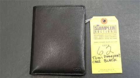 TUMI PASSPORT CASE - CHAMBERS - BLACK