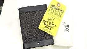 MONT BLANC PASSPORT HOLDER - 107638 - WITH BOX