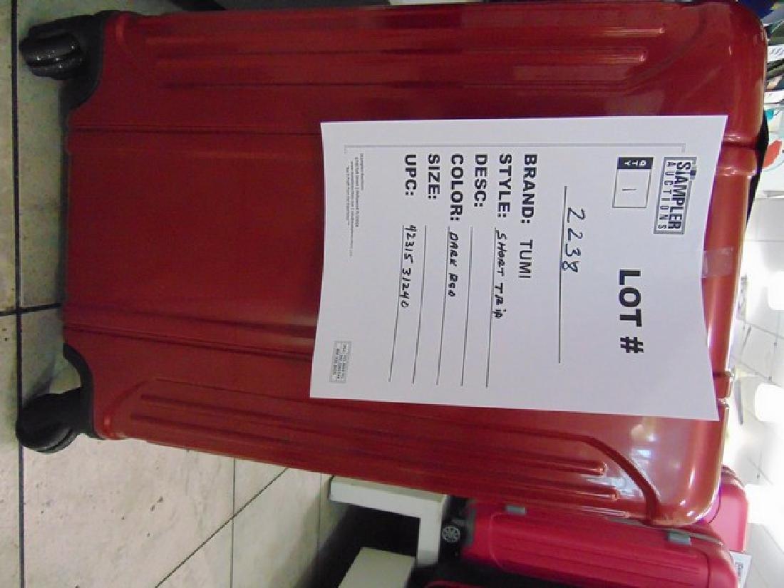 TUMI SUITCASE - POLY / CARB - SHORT TRIP - DARK RED -