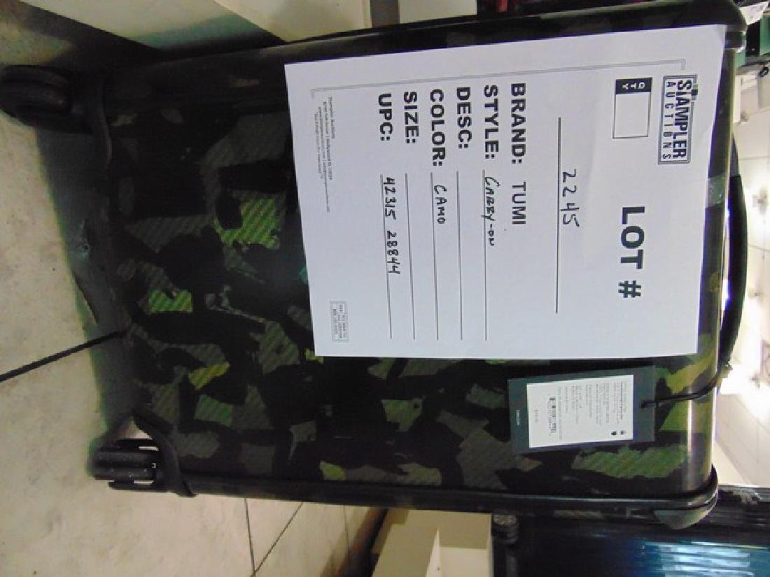 TUMI SUITCASE - POLY / CARB - CARRY ON - CAMO -