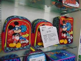 3 AMERICAN TOURISTER - 2- MICKEY MOUSE BACK PACKS / 1-