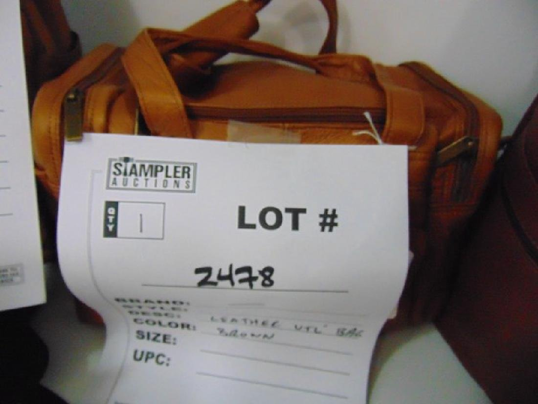 UTILITY BAG - LEATHER - BROWN