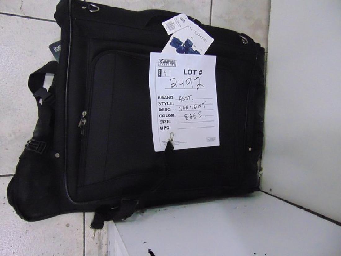 4 ASSORTED GARMENT BAGS - BLACK