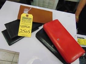 5 ASSORTED ZIP WALLETS & CHECK BOOK HOLDERS - LEATHER