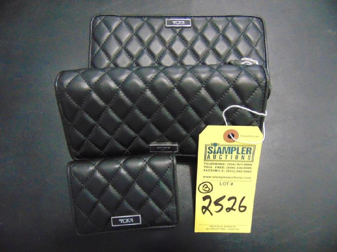 3 TUMI WALLETS - PADDED LEATHER - MONTAGUE SLG - 1-
