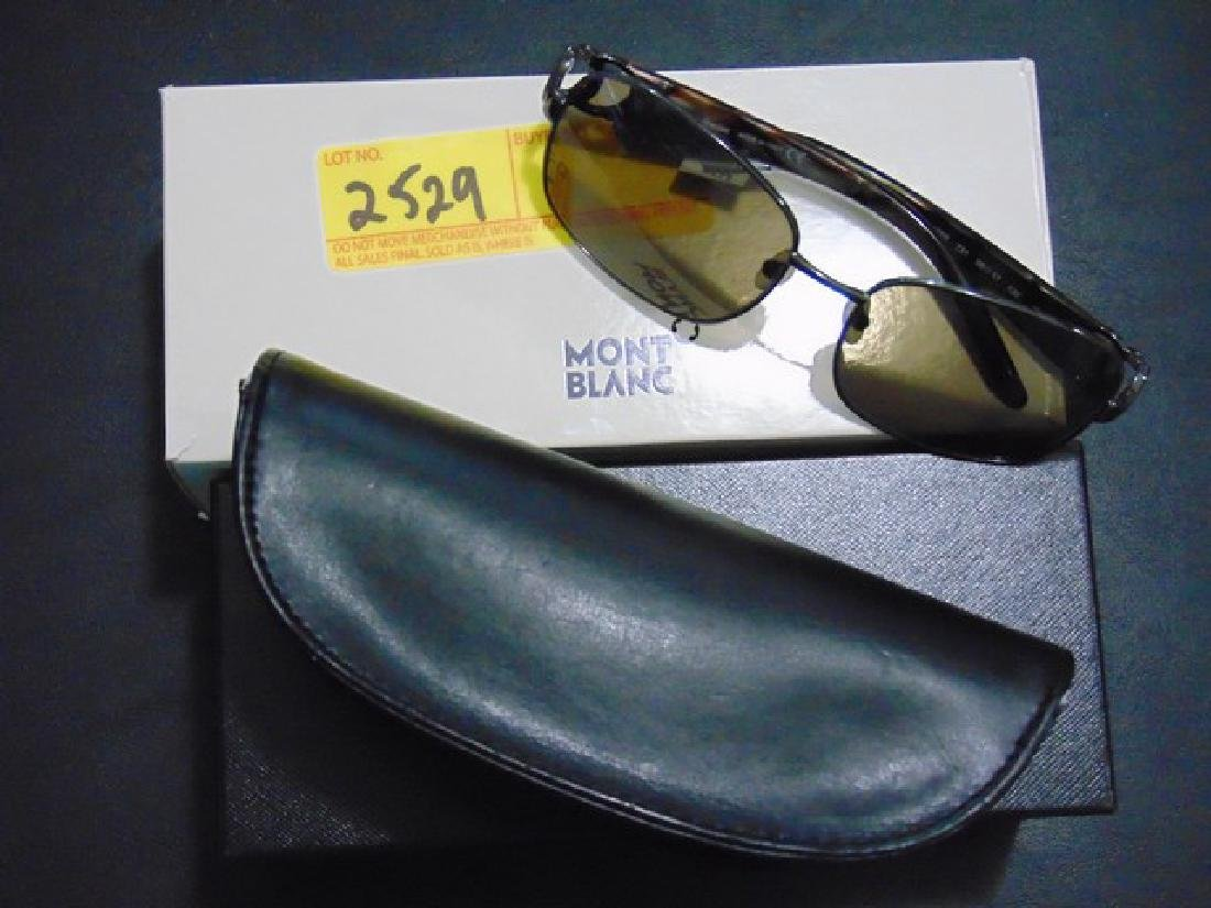 MONT BLANC SUNGLASSES - UV - BLACK PEARL - WITH LEATHER
