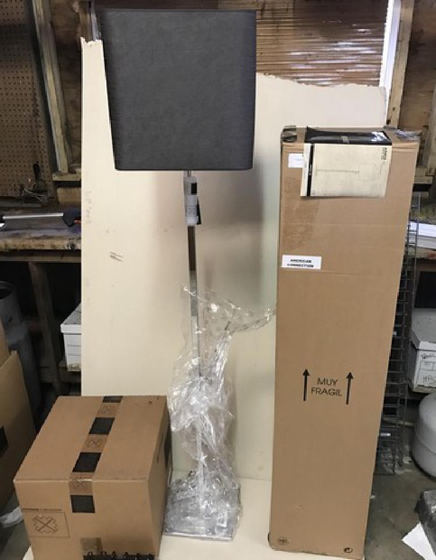 MODISS - ANACA 60 - FLOOR LAMP - CHROME BASE - GRAY