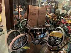 OLD STYLE HARLEY DAVIDSON MOTORCYCLE WITH CERTIFICATE