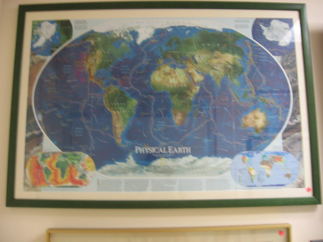 Physical Earth Map