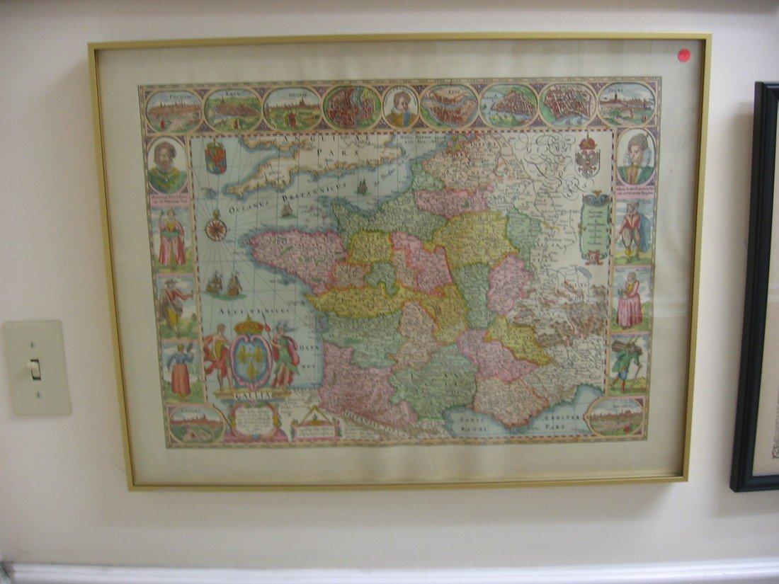 Gallia Spanish Map