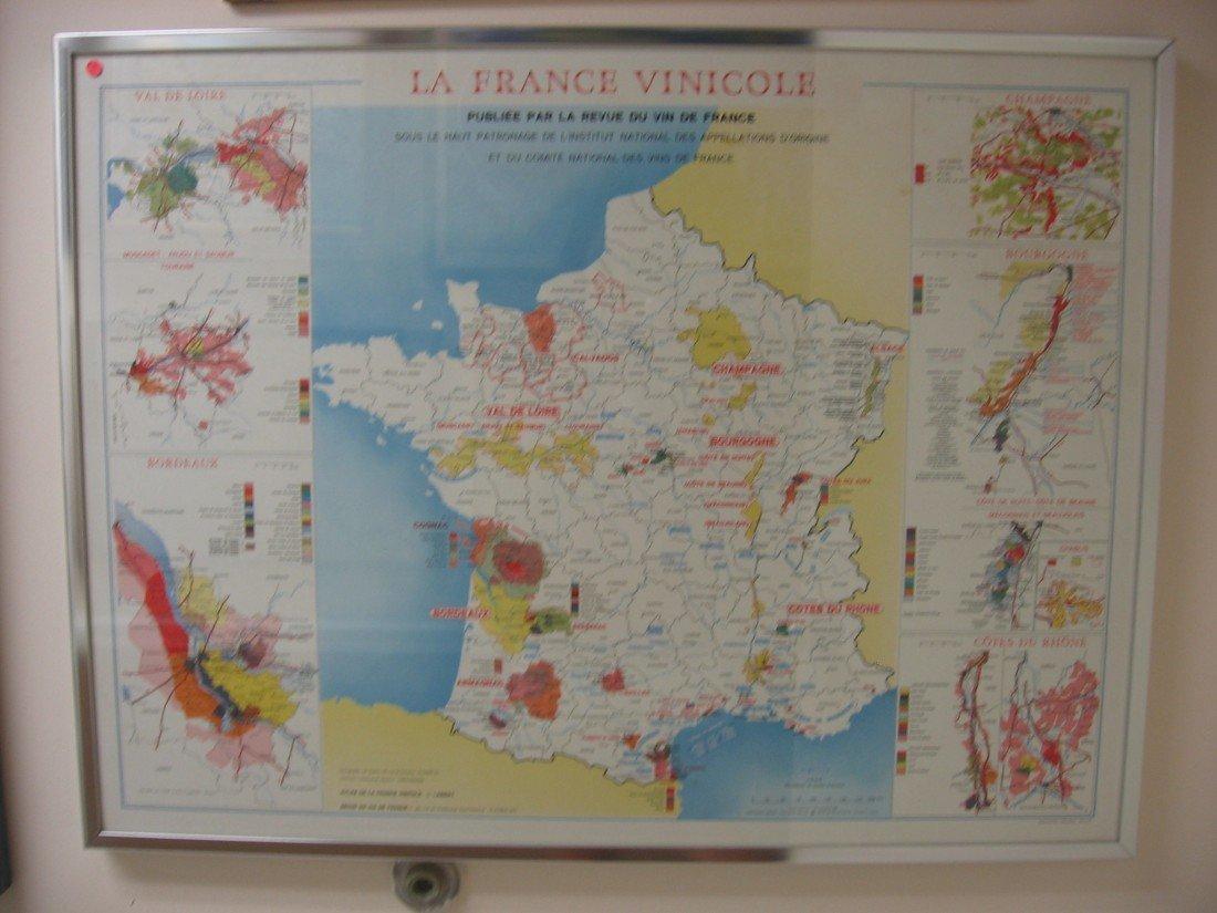 La France Vinicole Map