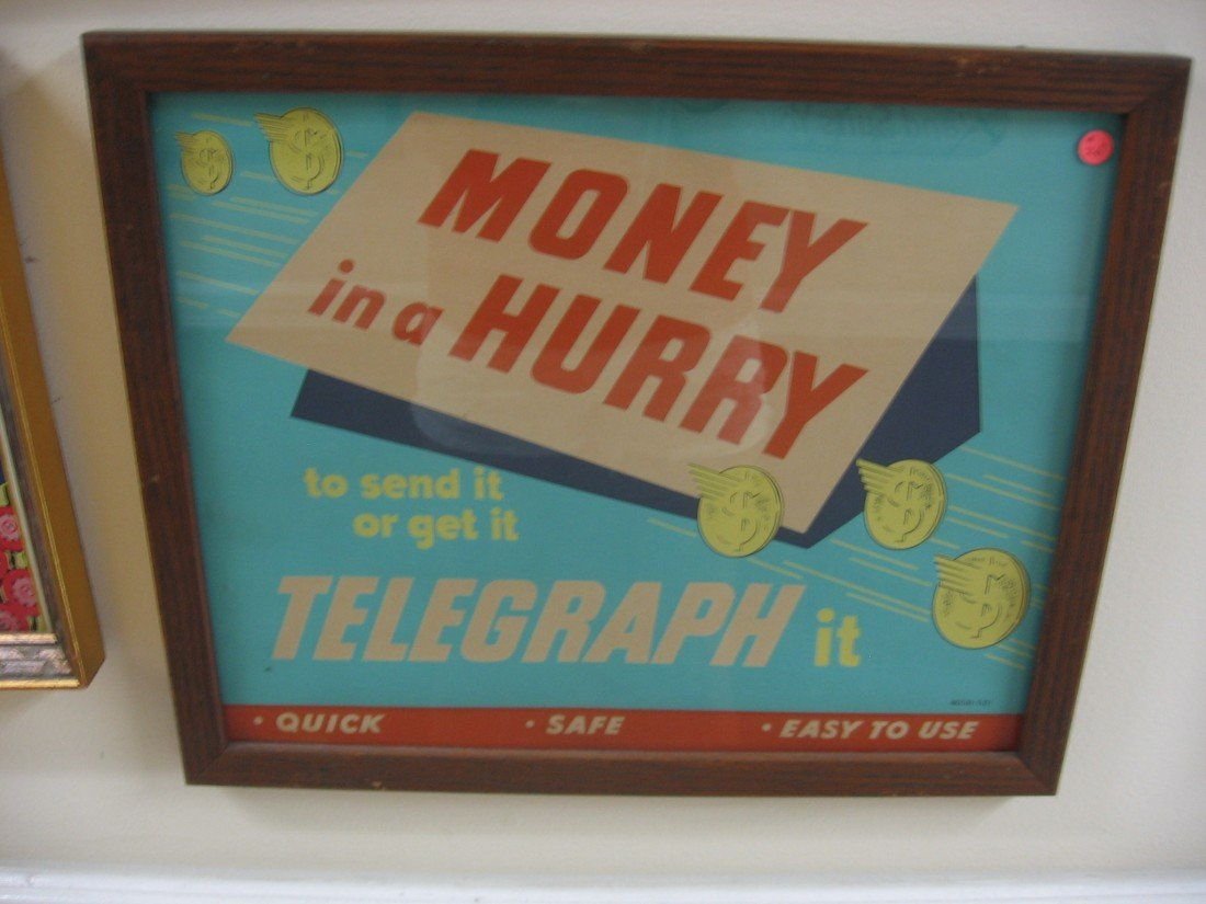 Money in a Hurry Tin Sign