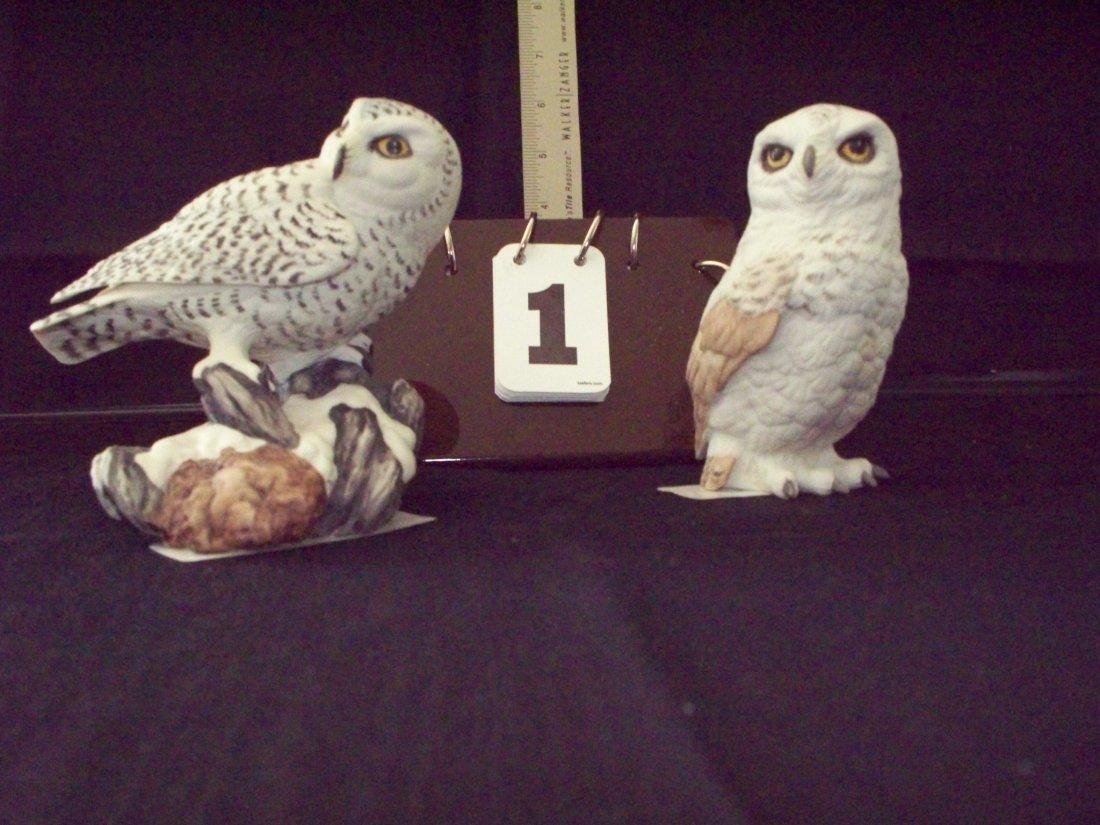 2-BOEHM PIECES - 1 SNOWY OWL / 1 OWL #40122 - 5''