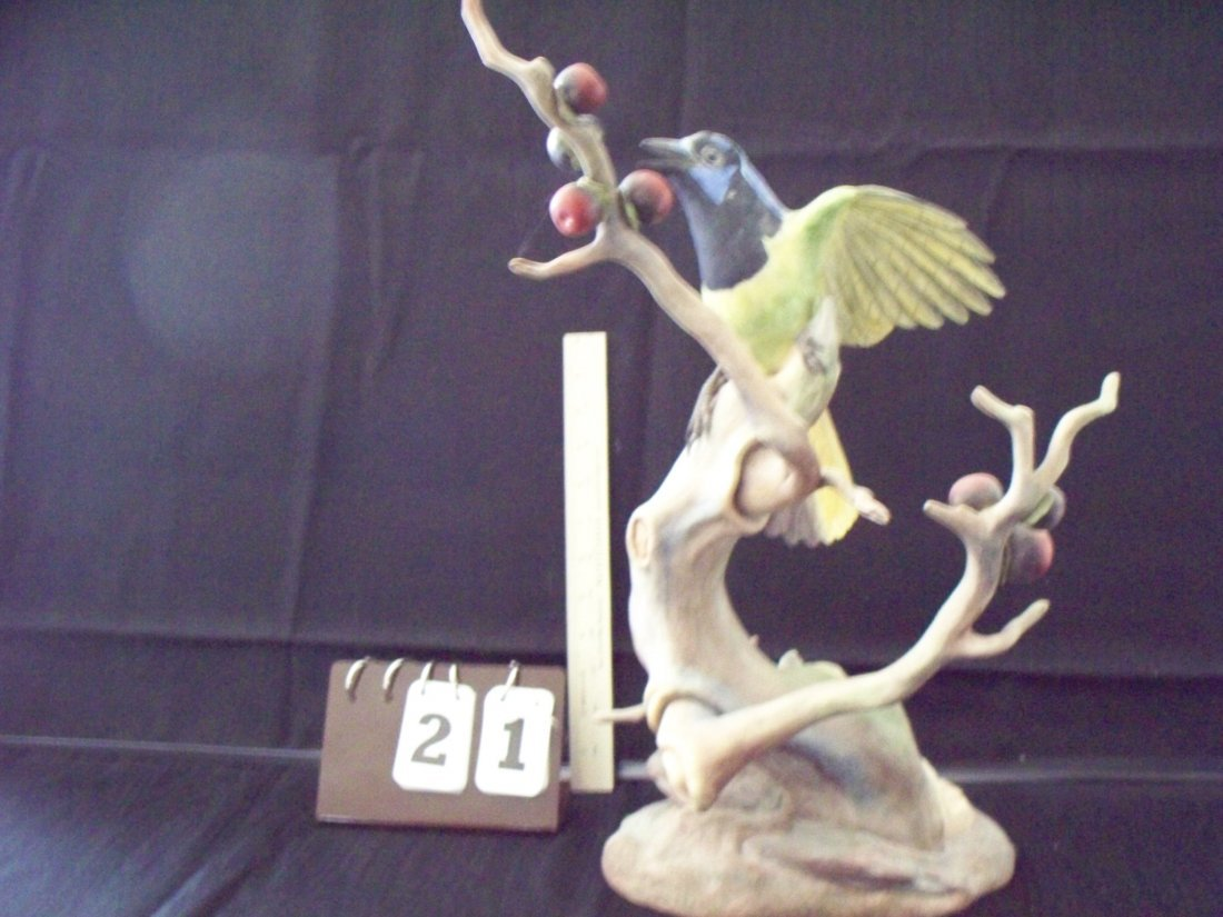 BOEHM LIMITED EDITION SIGNED GREEN JAYES BIRD 486V - 18